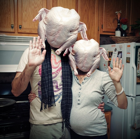 Turkeys in a way that was never meant to be, turkey humor and Thanksgiving humor at it's best.