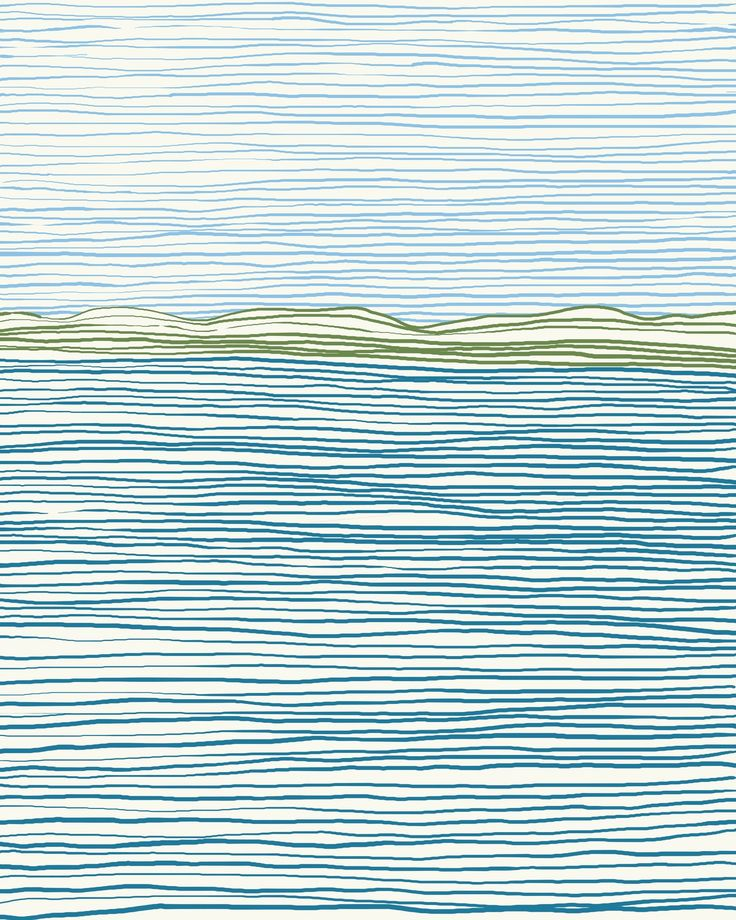 I love this! Nothing but lines and you get a lovely horizon. So creative!