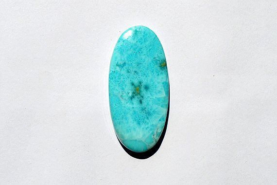 11.5 Cts Natural Dominican Larimar Gemstone, Sky Blue Designer Larimar, Blue Larimar, Larimar Loose Cabochon, 46x22x6 MM  R06675 by JAIPURARTMART on Etsy