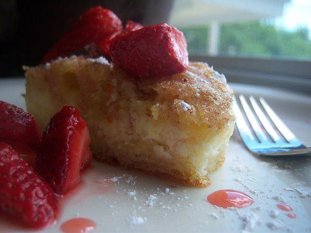 ricotta blintz casserole with strawberries   blackjack bakehouse