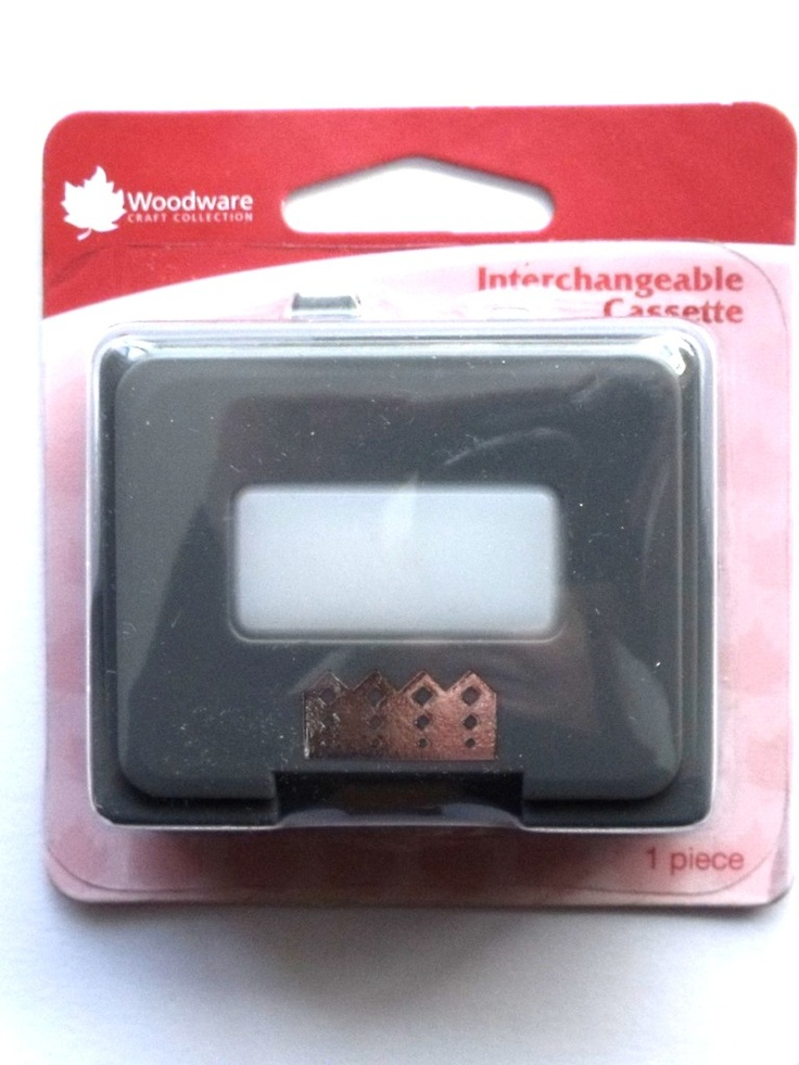 WOODWARE CRAFTY EDGER CASSETTE - ZIG ZAG DIAMOND    Cassette for use only with the Crafty Edger CP43 Set. For best results use 110gsm - 180gsm craft paper, incorrect thickness will result in the punch jamming.
