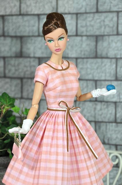 Original Barbie dolls.....this is where I started sewing --- loved making dresses for Barbie, shirts for KEN  I had originals like this Barbie...Such Unbelievable details on this dress