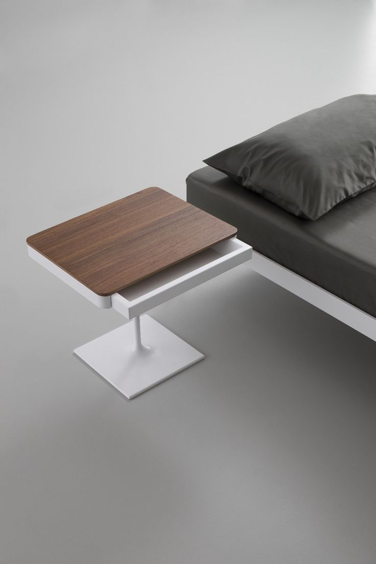 Crystal and steel bedside table with drawers PLANE | Crystal and steel bedside table - iCarraro italian makers
