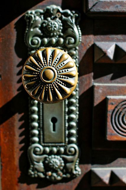 Beautiful doorknob and plate