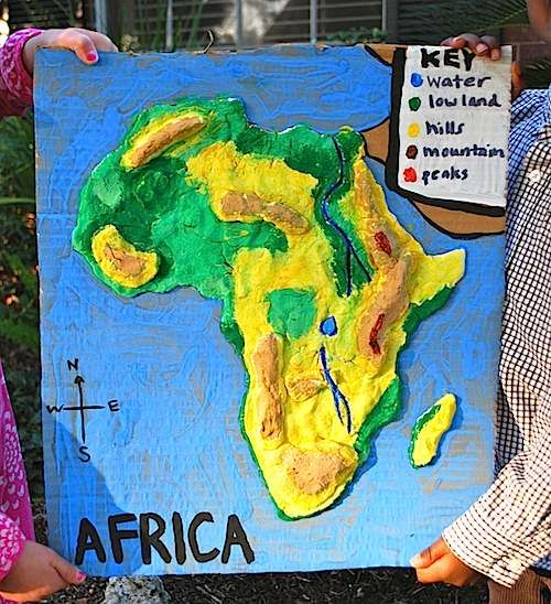 Africa 3D salt dough map lesson plan