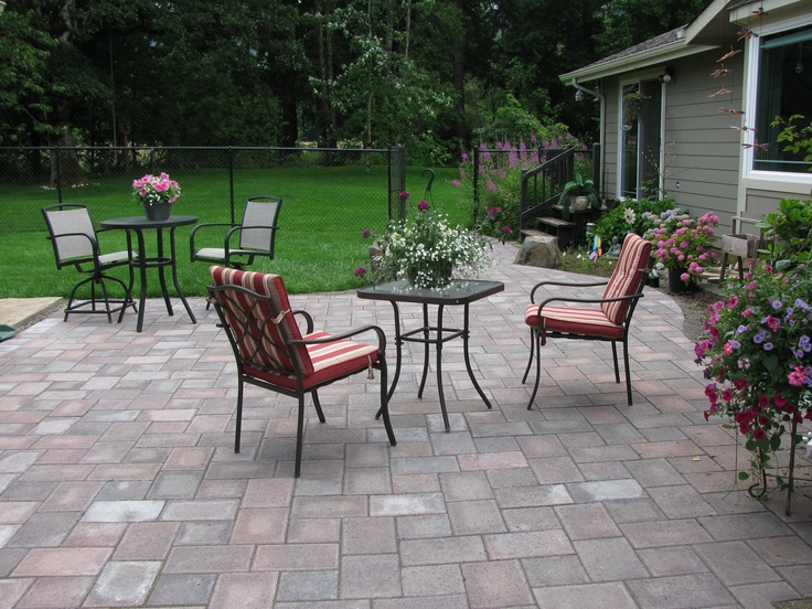 We Tore Out The Grass And Put In This Paver Stone Patio...love