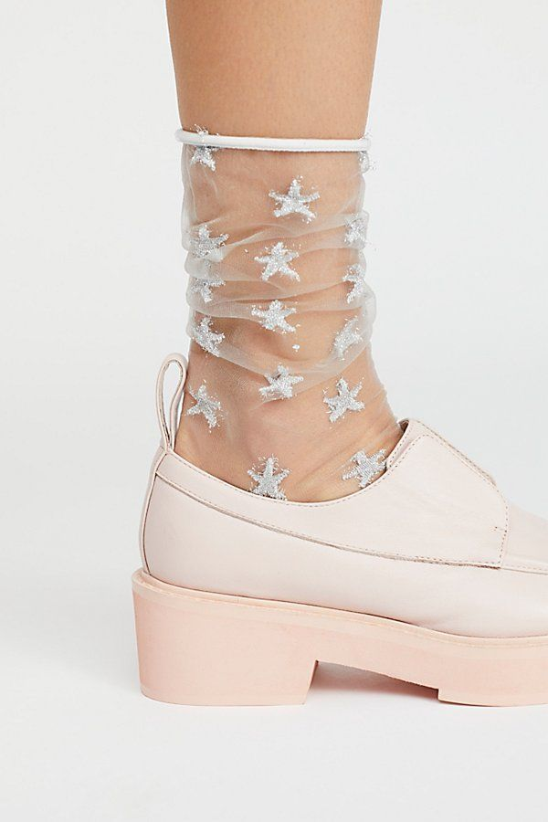 462d6722fca sheer glitter star socks by Free People