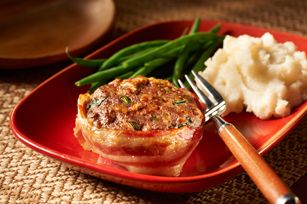 Make-Ahead Cheesy Bacon Mini Meatloaves recipe