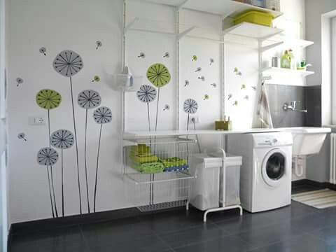 Laundry Room Algot System Ikea And Painting Dandelions