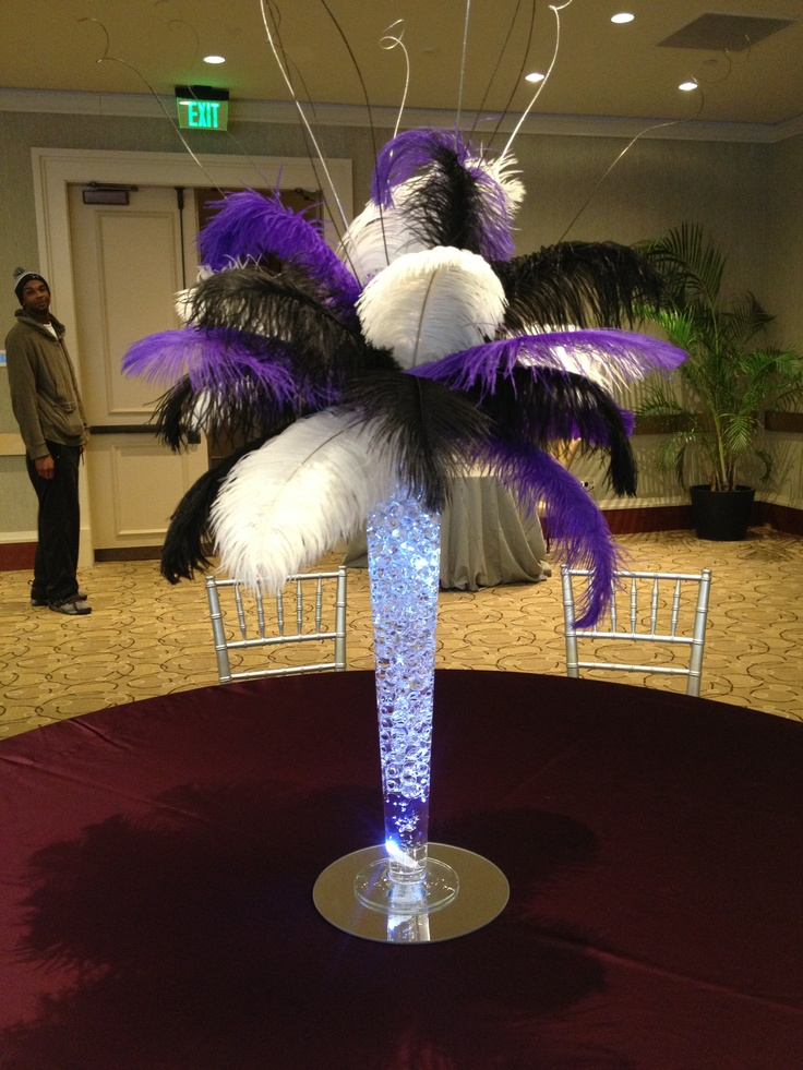 Best ostrich feather centerpieces images on pinterest