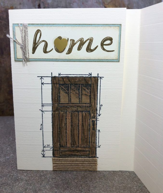 New Home Card, Welcome Home, In This World su, New Front Door, Check out this tri-fold card