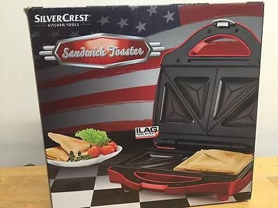 SilverCrest Sandwich Maker-Toaster- Red-Boxed-Proceeds to Charity Home, Furniture & DIY:Appliances:Small Kitchen Appliances:Grills & Sandwich Makers #forcharity
