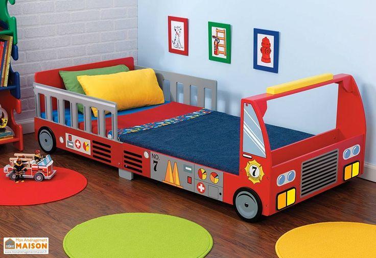 Lit pour Tout-Petits Camion de Pompier