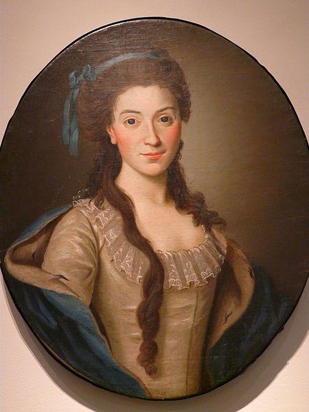 Portrait of Izabela z Flemmingow Czartoryska by Alexander Roslin, circa 1774