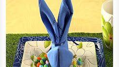 Easy Napkin Design - Bunny Napkin Fold - YouTube