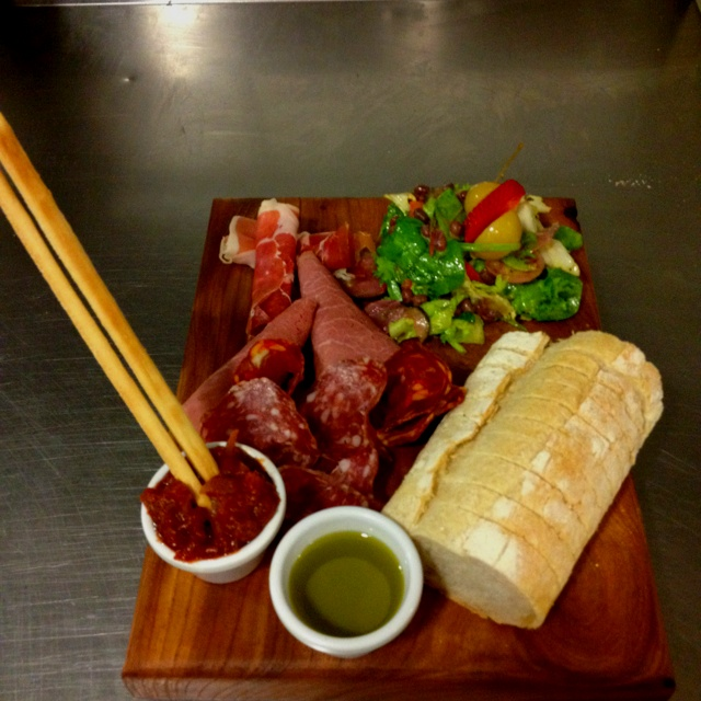 Smoked & Cured Meats with chutney, Olive Oil and seasonal salad. By Cheforian