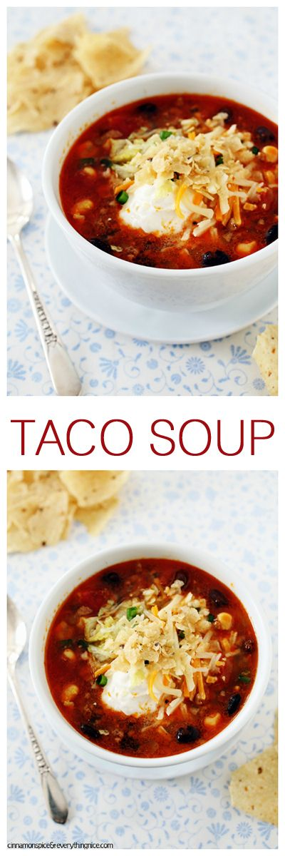 If you're tired of the same old taco night this will help perk things up! Tacos in a soup bowl.