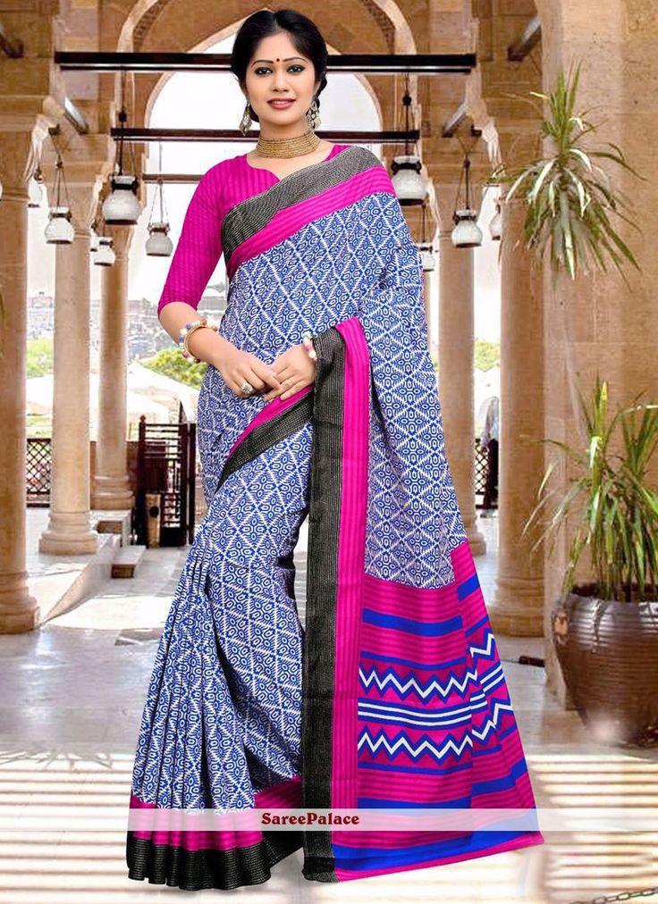 Especial Art Silk Multi Colour Print Work Printed Saree