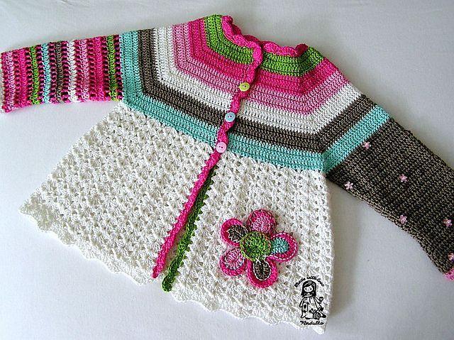 Ravelry: Flower Cardigan pattern by Vendula Maderska - free pattern