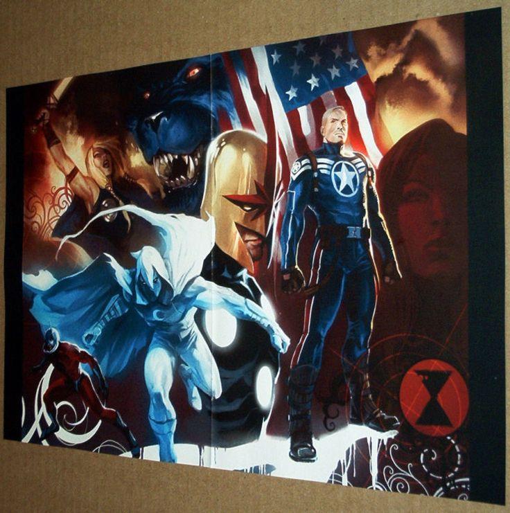 Secret avengers #3 poster moon knight beast nova valkyrie captain ...