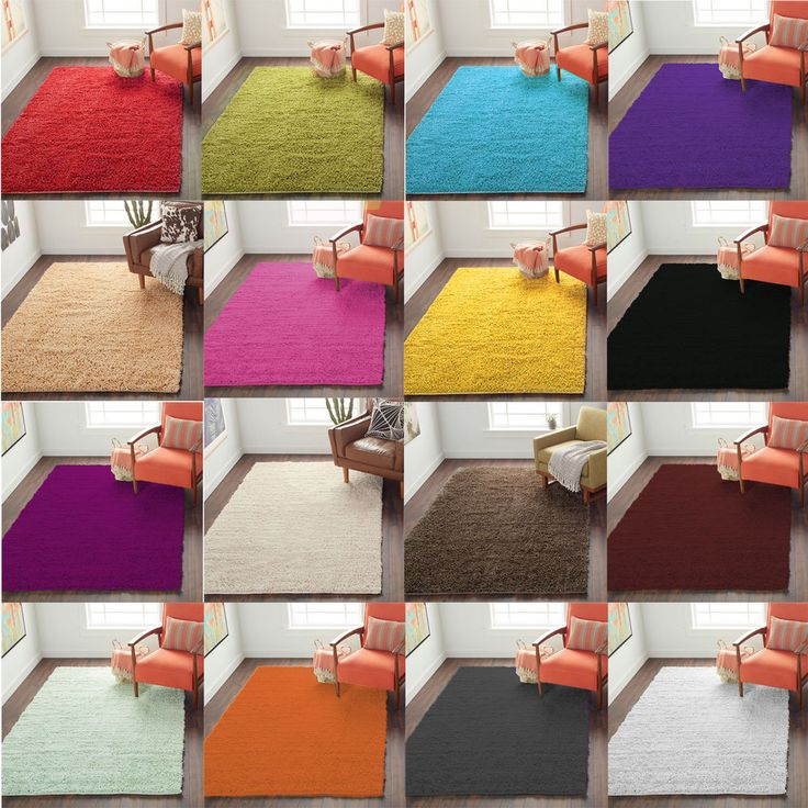 soft shaggy rugs anti skid 5cm thick high pile floor mats mat carpet large small