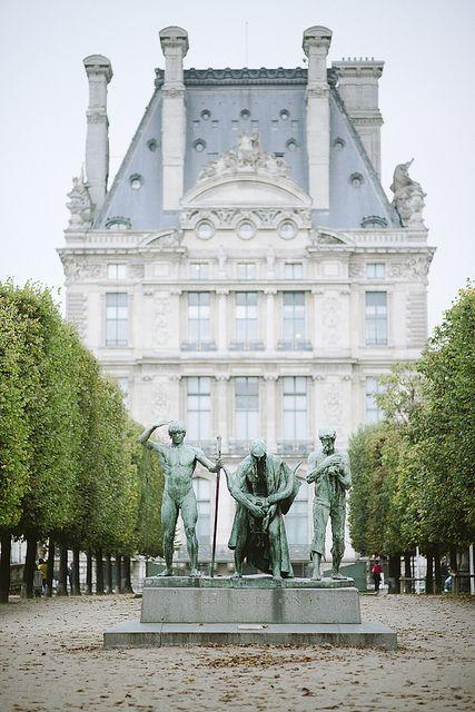 Jardin des Tuileries and le Pavillon de Flore, Paris.