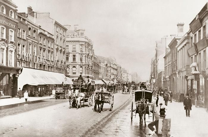 OXford Street in 1864 ... with the very first John Lewis Department Store (John Lewis/PA) #twitterstorians #london