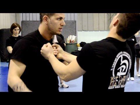 KRAV MAGA TRAINING • How to disarm a Knife to Throat (part 1)