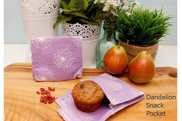 Reusable, eco-friendly, organic and economical snack pockets from 4MyEarth are perfect for all your snacks such as cakes, nuts, biscuits, cut up fruit and any other items.