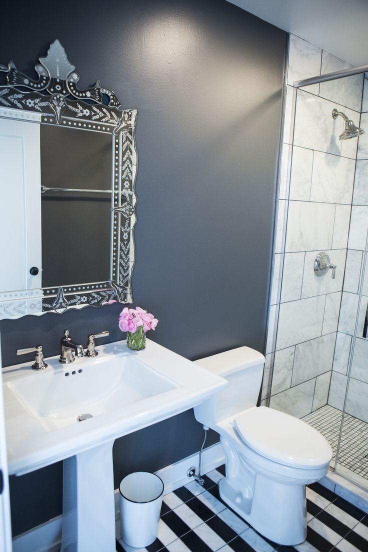 Alexandra Kaehler Design - bathroom before and after - photo by Heather Talbert