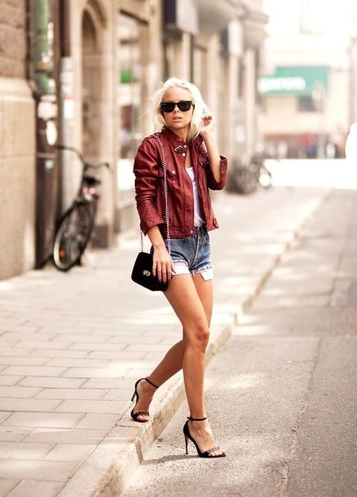 Hot blonde with great legs stepping off the curb... | Great Legs and Stylish High Heels