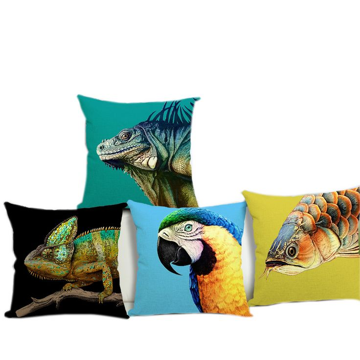 Super 3D Modern Wild Animals Home Sofa Seat Back Decorative Cushion with No Filling Car Chair Pillow Pads  Capa De Almofada #Affiliate