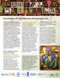 Rural women and the MDGs