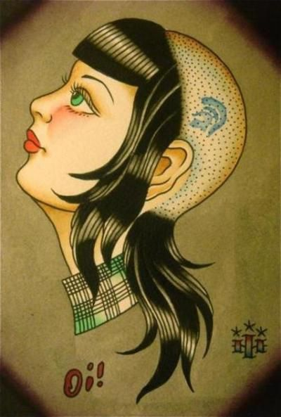 Traditional artwork - Represents Skinhead subculture.