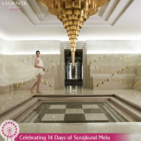 #Day13 Every step will be a treat as you indulge in the Baoli at Jiva Grande Spa. Know more: http://on.fb.me/1ztW38e #Spa #Surajkund #SurajkundMela #Wellness #Therapy #Indian #Rejuvenate