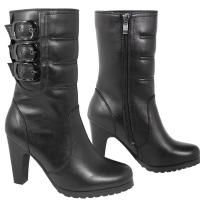 Check out Xelement LU8001 Women's Fashion 3-Buckle Motorcycle Boots on LeatherUp.com!