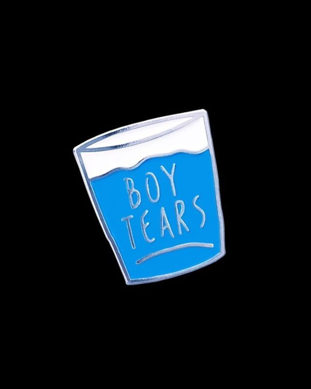 Boy tears pin from @yournumbersup  Kick 'em where it hurts!  Buy it through their link in bio! As it is the month of November $1 from each Boy Tears pin sold will be donated to the Movember Foundation to support mens health. It's ok for guys to cry too.