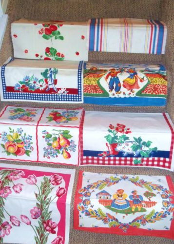 vintage towels for the Kitchen