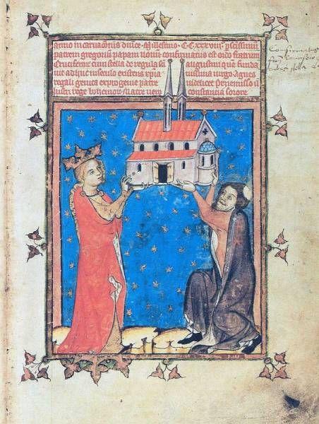 Zakladatelka řádu sv.Anežka a velmistr řádu, Breviář velmistra Lva, 1356