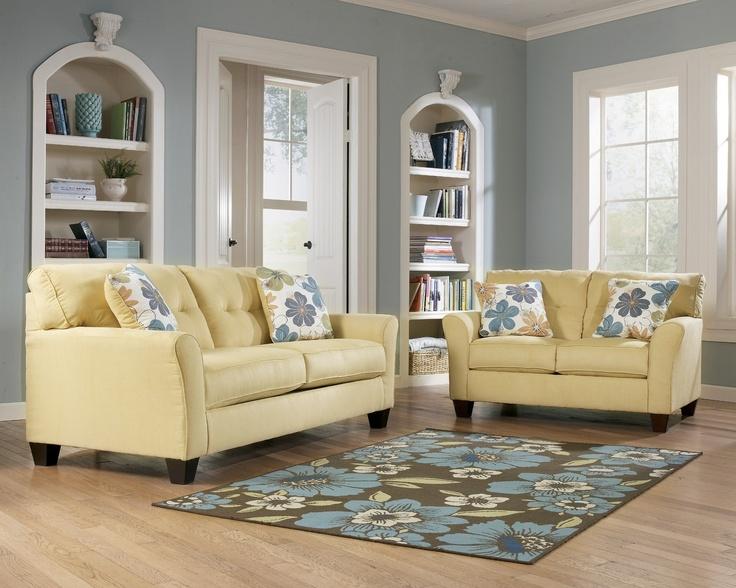 Front Living Room Ashley Furniture Kylee Goldenrod New