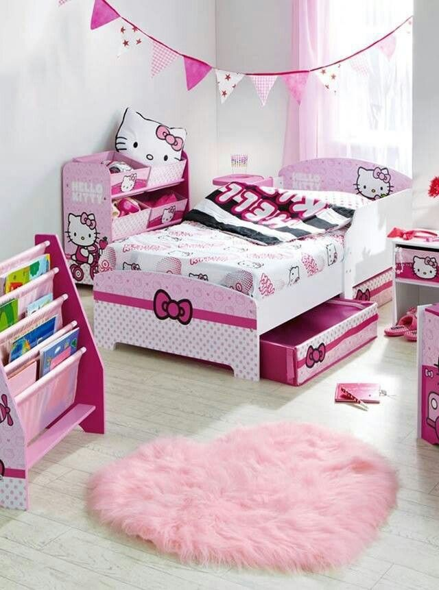49 best hello kitty rooms images on pinterest hello for Hello kitty bedroom design