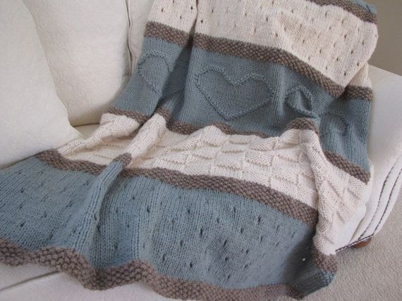 Seaside Blanket Pattern knit blanket knit by TheKnittingCloset, $6.00