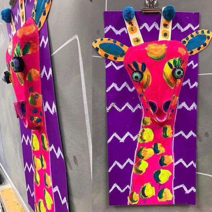 I am loving this new Giraffe project! #kidsartprojects #artteacher #art #giraffeart