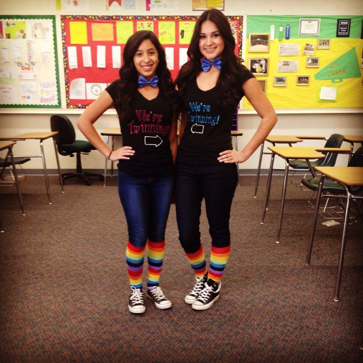 1000+ ideas about Twin Day on Pinterest | Costumes Halloween costumes and Homecoming week
