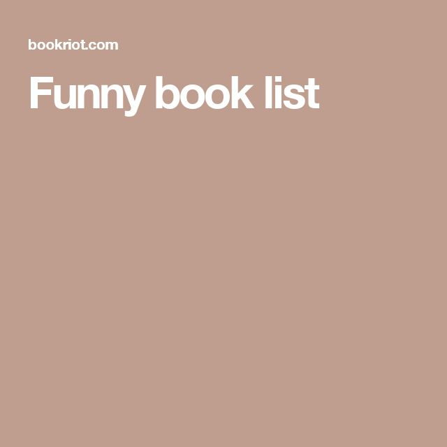 Funny book list