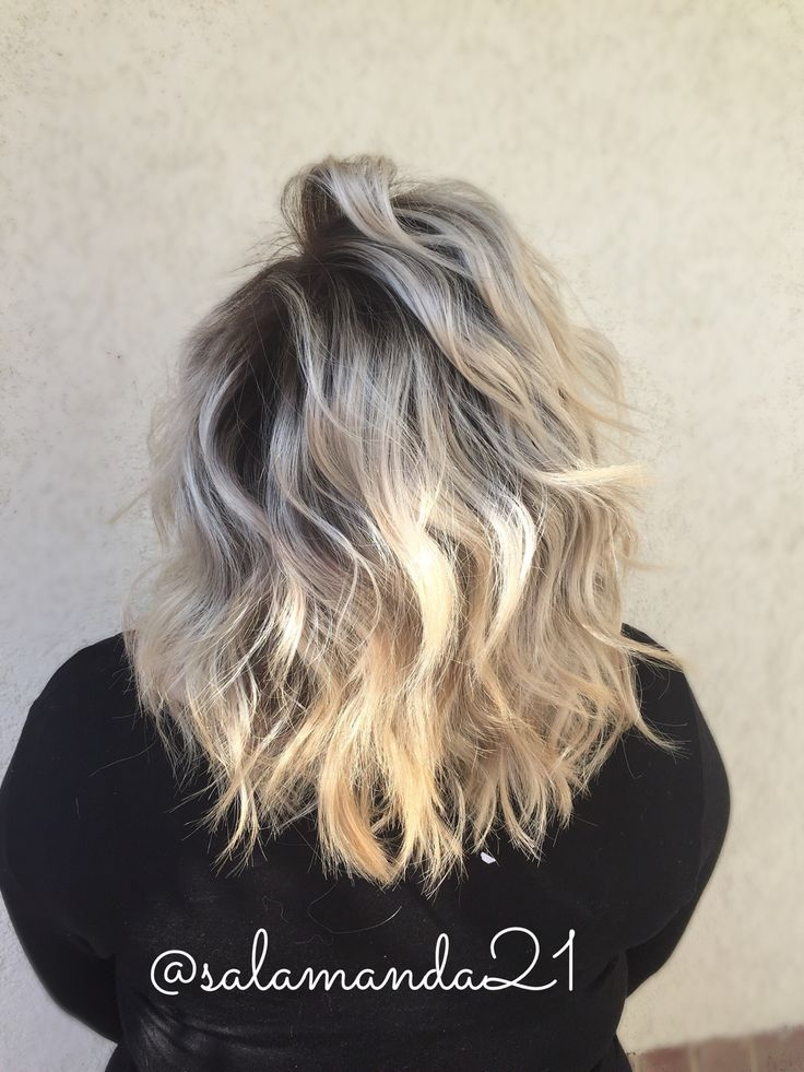 dark rooted blonde shadow root balayage my hair