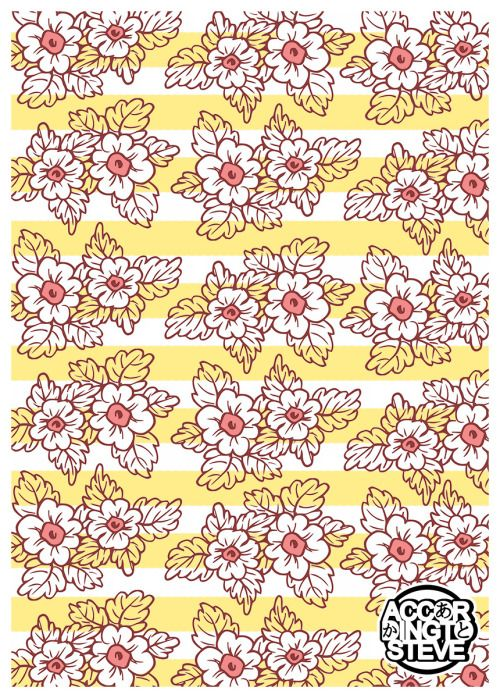 an old drawing of mine recoloured and 'patternized' :)