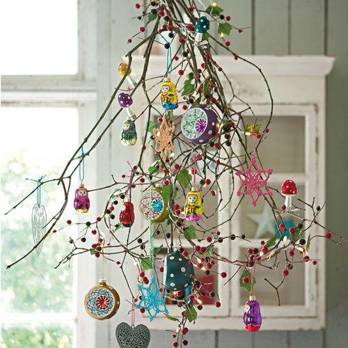 Un bouquet de baies décoré comme un sapin de noël, une belle idée qui inspire !