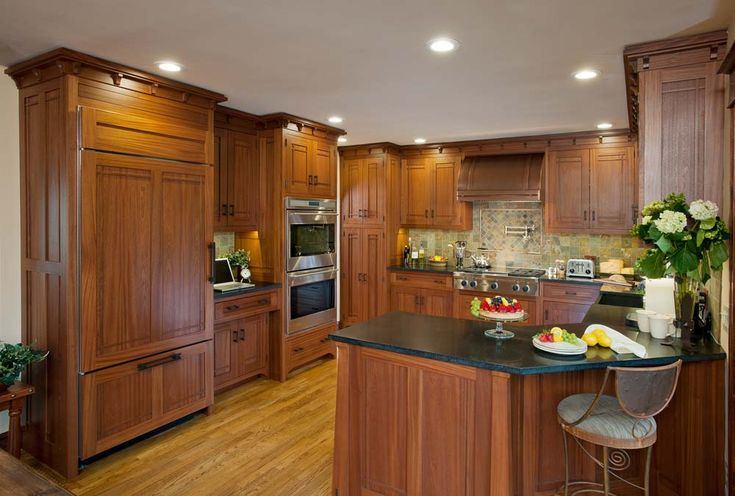 164 best craftsman kitchens images on pinterest craftsman kitchen bungalows and kitchen ideas for Prairie style kitchen design