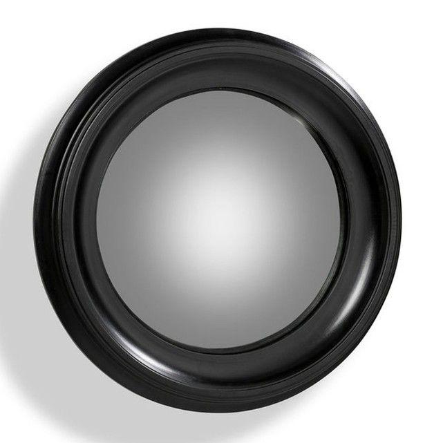 Doté d'un verre aluminé convexe, le miroir de sorcière aurait, dit-on, de véritables pouvoirs magiques...Cadre en MDF, laqué noir.Fixation murale par oeillet métallique encastré.Diamètre 60 cm.